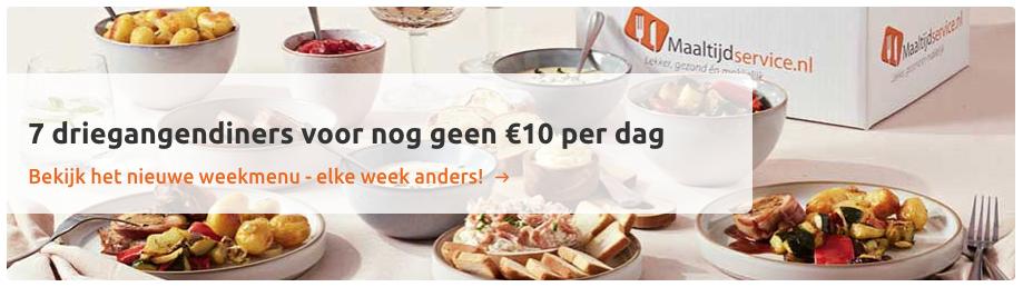 diner via maaltijdservice.nl maaltijdvoorziening