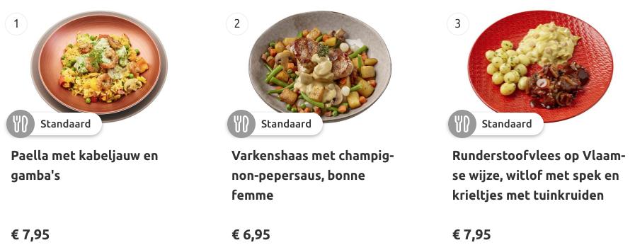 maaltijden van maaltijdservice.nl
